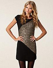 Nikki Dress - Only - Goud/zwart - Feestjurken - Kleding - NELLY.COM