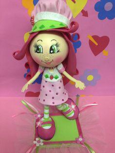 Strawberry Shortcake  fofucha doll Birthday by SweetBellaLuna, $32.00