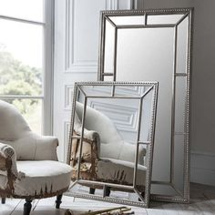 This Lawson full length leaner mirror offers a glamorous design. The striking oversized design will demand the attention in your home. Silver Framed Mirror, Silver Walls, Mirror With Mirror Frame, Full Length Mirror Silver, Large Leaning Mirror, Mirrors For Sale, Small Mirrors, Antique Mirrors, Decorative Mirrors