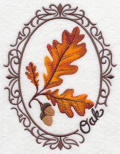 Leaf Cameo - Oak