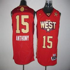 e99737b8825 2011 All Star Nuggets Carmelo Anthony Red Stitched NBA Jersey nike Brooklyn  Nets