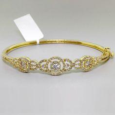1.70 TCW Unique Diamond Bangle Bracelet