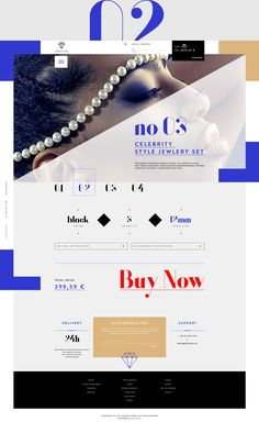 JewelryShop main page, menu, product card, listing and lookbook + mobile of home and lookbook.