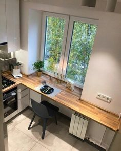 38 Ideas Kitchen Minimalist Interieur For 2019 – Home Renovation Kitchen Furniture, Kitchen Decor, Kitchen Ideas, Kitchen Themes, Kitchen Inspiration, Small Bathroom Wallpaper, Bathroom Small, Classic Kitchen, Kitchen Modern