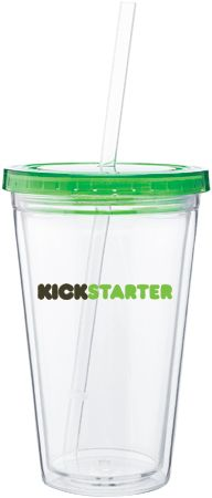 spirit tumbler -   16 oz acrylic double wall tumbler with colored threaded lid and clear straw