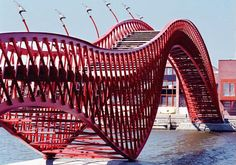 The python bridge in Amsterdam by Adriaan Geuze