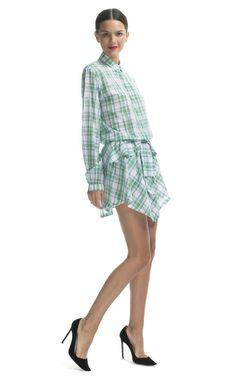 No. 21 Plaid Ruffle Shirt Dress l Moda Operandi