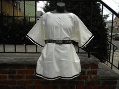 Adult Shirt Cream w/ Trim Md-Lg Viking Medieval SCA Renaissance LARP pirate $28.00