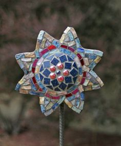 Concrete and Mosaic Flower