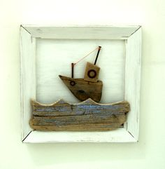 Driftwood life on the ocean wave