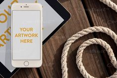 Nautical Dock Ropes iPhone & iPad by Construct Supply Co. on @creativemarket