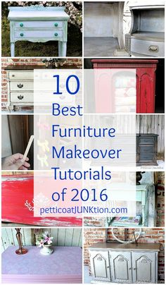 10 Best Furniture Makeover Tutorials of 2016 from Petticoat Junktion