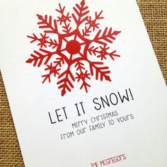 Free snowflake printable holiday card designcorral.com Repin!