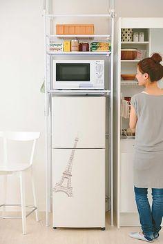冷蔵庫上収納アイデア特集!IKEA&ニトリのラックでDIYしよう | iemo[イエモ]
