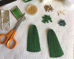 Мастерим серьги-кисточки с плетеными шапочками - Ярмарка Мастеров - ручная работа, handmade