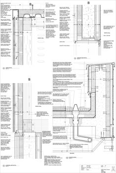architecture details curtain Green Roof Detail Section wall detail bing images architecture details green roofs blackbird architects inc green Green Roof Detail Balcony Design, Roof Design, Wall Section Detail, Detail Architecture, Drawing Architecture, Civil Engineering Construction, Building Skin, Building Building, Construction Drawings