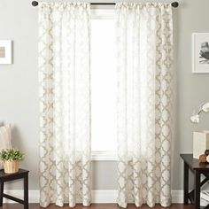 Princeton Rod Pocket Sheer Panel   Jcpenney  Allen Roth Curtains
