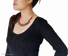 Image result for north east india necklaces India Jewelry, Jewellery, Necklaces, Sweaters, Image, Tops, Fashion, Moda, Jewels