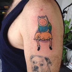 Adventure Time tattoo done by Kevin Lockwood at Arboreal Ink in Buffalo, NY, currently at Private Stock Tattoo in Racine, WI