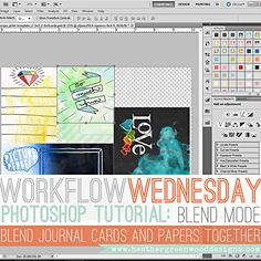 Heather Greenwood   Blending #projectlife Pocket Journal Cards and Papers Together In Adobe Photoshop