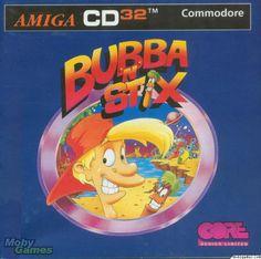 Bubba 'N' Stix Amiga box cover art - MobyGames Covered Boxes, Arcade Games, Cover Art, Retro, Classic, Computers, Design, Games, Derby