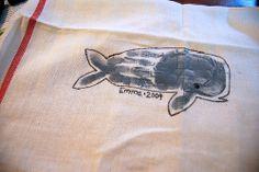 hand print  whale | Whale handprint | Sukkot