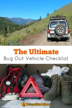 The Ultimate Bug Out Vehicle Checklist. Honestly, prepping your vehicle for bugging out doesn't take much time. Many of the items on this Bug Out Vehicle Checklist should be in your vehicle anyway. Doomsday may never happen, but breakdowns inevitably wi Emergency Survival Kit, Urban Survival, Emergency Vehicles, Wilderness Survival, Outdoor Survival, Survival Prepping, Survival Gear, Survival Skills, Apocalypse Survival