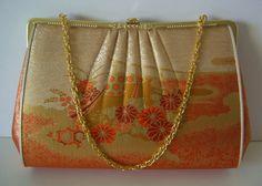 Bridal purse gold brocade handbag or clutch purse by StyledinJapan, $34.00