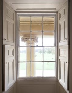 Late Georgian Window, Yorkshire UK. Like the double shutters - light control just like the Shaker houses.