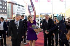 Queen Maxima met with the national association of young farmers Nederlands Agrarisch Jongeren Kontakt NAJK in Utrecht. 21 November 2014
