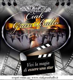 locandina di Ciak Gran Ballo, concorso per talenti dello spettacolo in stile hollywoodiano con cena di gala e performance dei partecipanti