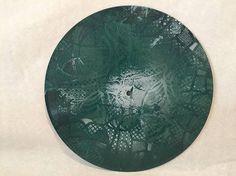 Green Lattice Art Wall Hanging 10 Upcycled Vinyl
