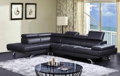 Divani Casa K8472 - Modern Leather Sectional Sofa