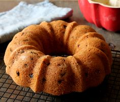 Rum Raisin Bundt Cake - a delicious and moist cake for a crowd and great for gift giving.