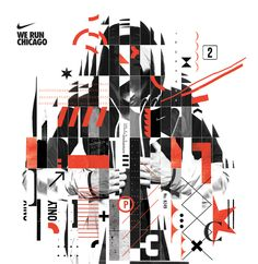 NIKE Chicago Marathon These were some initial design proposals for the Chicago marathon campaign. They did not make the cut.