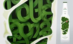 Some crazy #type on a concept bottle for Heineken by KISSMIKLOS. #packaging