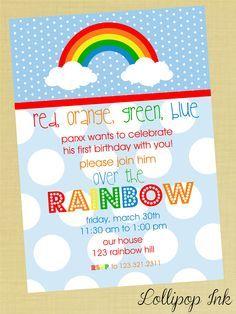 Free rainbow party invitation ruby and the rabbit rainbow party rainbow birthday invitations on pinterest rainbow parties stopboris Gallery