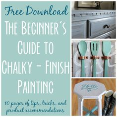 This FREE download is full of tips, tricks and product recommendations to get you successfully started with chalk paint and refinishing furniture!