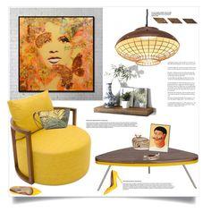 """Yellow"" by ildiko-olsa ❤ liked on Polyvore featuring interior, interiors, interior design, home, home decor, interior decorating, Ballard Designs and Lauren Ralph Lauren"
