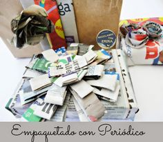 Ideas creativas para reciclar periódico | Aprender manualidades es facilisimo.com