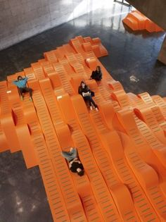 BAMscape is a free-form seating environment commissioned by the Berkeley Art Museum/Pacific Film Archive.Faulders Studio