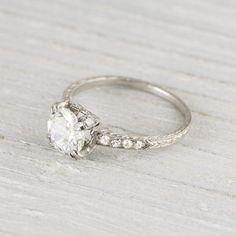 .88 Carat Vintage Art Deco Engagement Ring