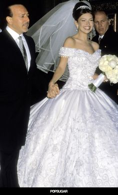 Pin For Later These Throwback Pictures Of Thalia And Tommy Mottola S Glamorous Wedding Are Everything