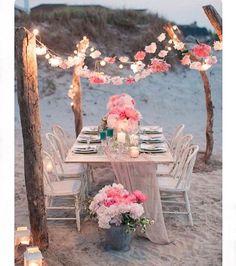 Beach Wedding Inspo! ������ http://gelinshop.com/ipost/1516264737481049902/?code=BUK2r7HAkcu