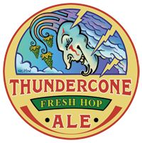 McMenamins Thundercone Fresh Hop Ale.  The first fresh hop of the year for us.  A great taste of goodness to come!
