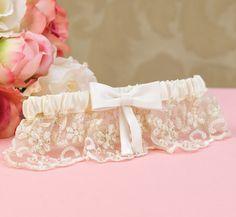 """Vintage Charm"" Bridal Garter - Wedding Garter"