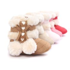 Winter Boots Fashion Soft Bottom Baby First Walkers Warm Boots