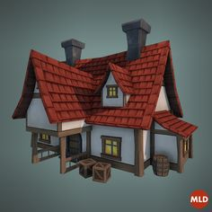 Low Poly Big House on Behance