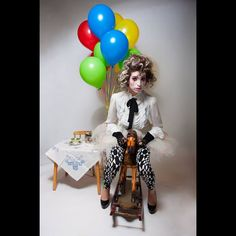 Clown Editorial, hair and makeup by Ida, photography by Justyn Roy. Editorial Hair, Editorial Fashion, Organic Colour Systems, Toronto, Great Lengths, Hair Makeup, Instagram Posts, Photography, Beautiful
