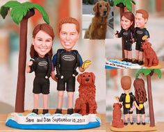 Personalised wedding cake topper  Underwater by UniqueCakeToppers